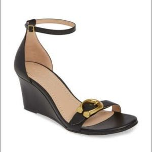 Coach Odetta Wedge Ankle Strap Sandal